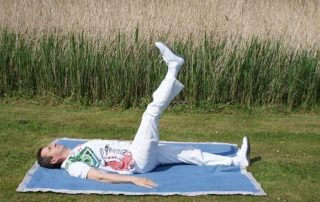 Dehnübung für Beine